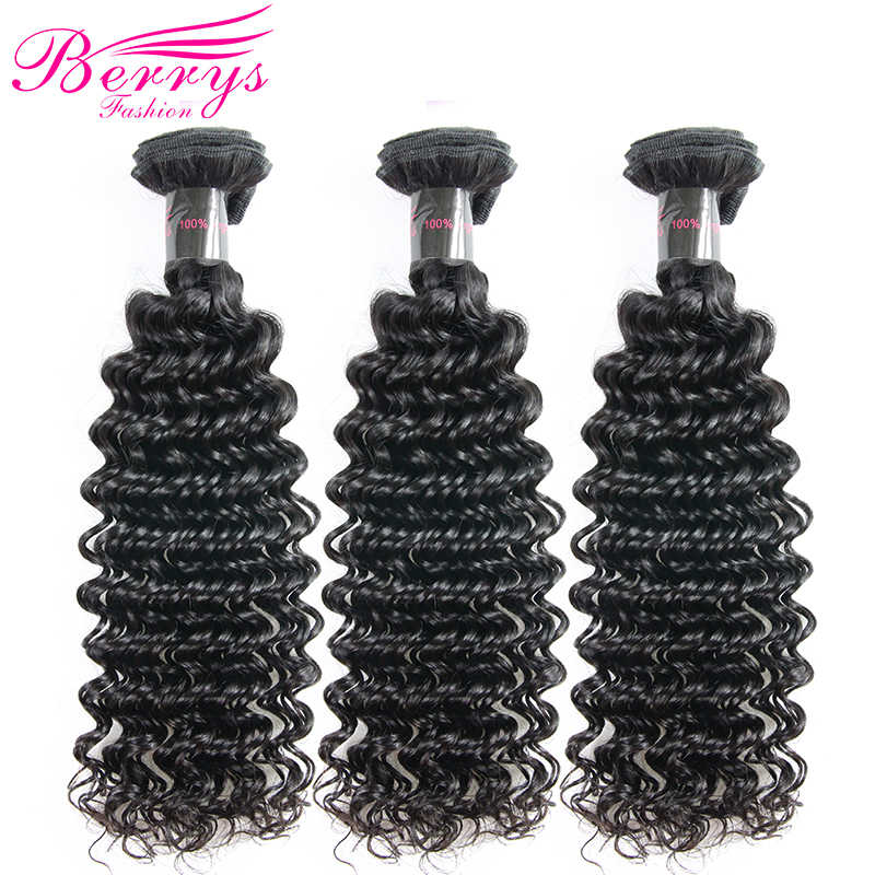 Deep Wave Brazilian Virgin Hair Weave Bundles Deals 3PCS/Lot 100% Unprocessed Human Hair Extensions Berrys Fashion Hair Weaving