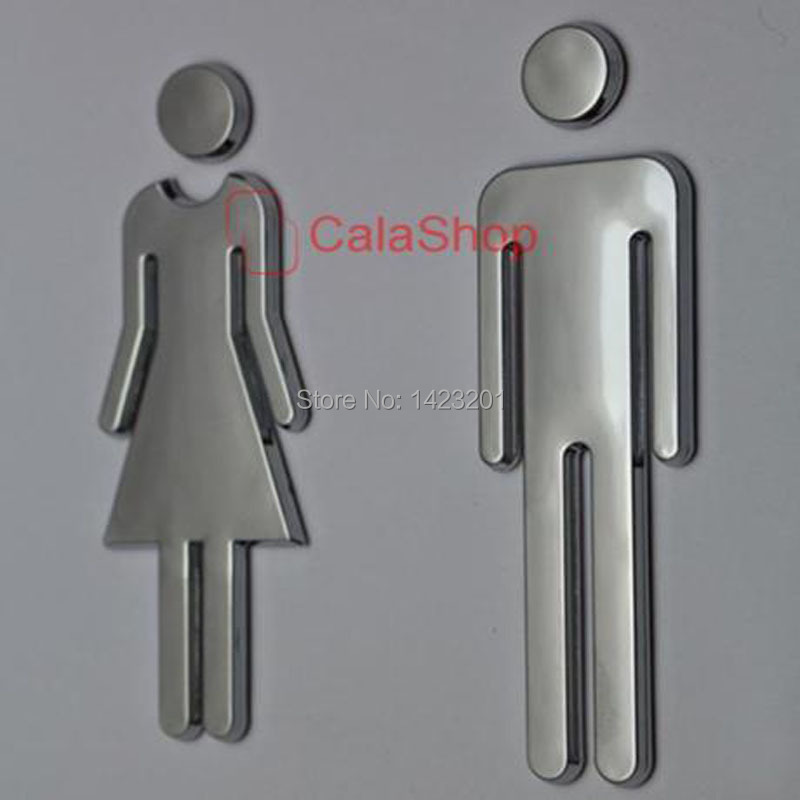 1 Pcs   Lot 120mmx40mm Restroom Sign Bathroom Sign Modern Adhesive Backed  Men Women Unisex. Popular Unisex Bathroom Signs Buy Cheap Unisex Bathroom Signs lots