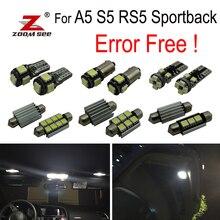 20 штук canbus ОШИБОК светодиодный лампы Интерьер плафон комплект посылка для Audi A5 S5 RS5 sportback(2009