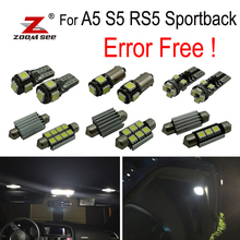 20 pz canbus errore di trasporto HA CONDOTTO LA lampadina interno della cupola di luce kit pacchetto per Audi A5 S5 RS5 sportback (2009 -2015)