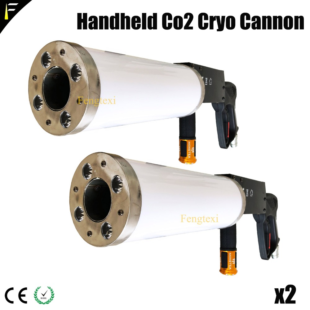 2*LOT LED Color RGB Co2 Shooter Handheld Co2 Cryo Cannon Jet Gun with 3m Hose Club Disco Cannon co2 Smog gun with RGB Light Tint led co2 confetti dj gun colorful manual control led co2 cryo jet confetti cannon machine for disco party wedding