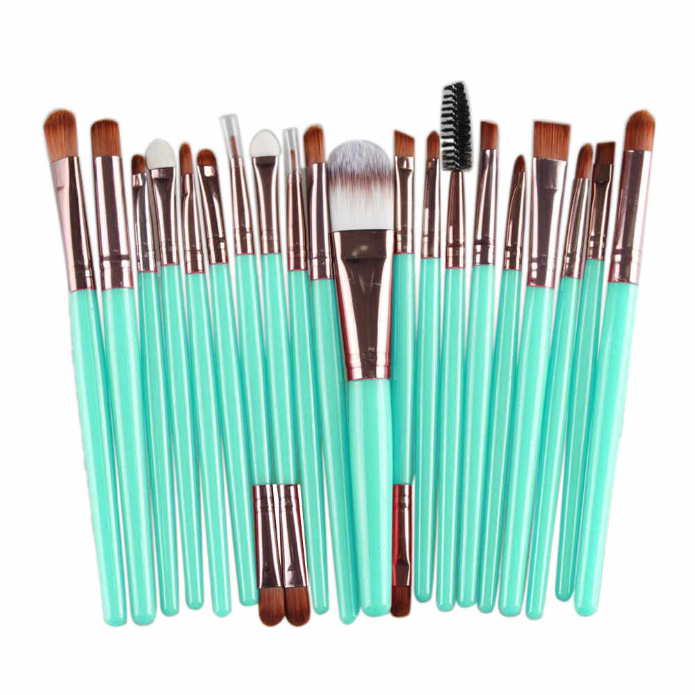 Pro 20 Stuks Make-Up Borstel Set Make-up Toilettas Shadow Foundation Poeder Eyeliner Wimper Lip Make Up Borstel Cosmetische beauty Tool