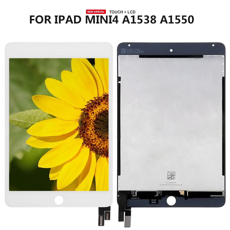 For iPad Mini 4 A1538 A1550 Panel Lcd Combo Display Touch Screen Digitizer Glass Free Shipping black color free tempered glass lcd display touch screen digitizer home button front camera assembly for iphone 6s 4 7 inch