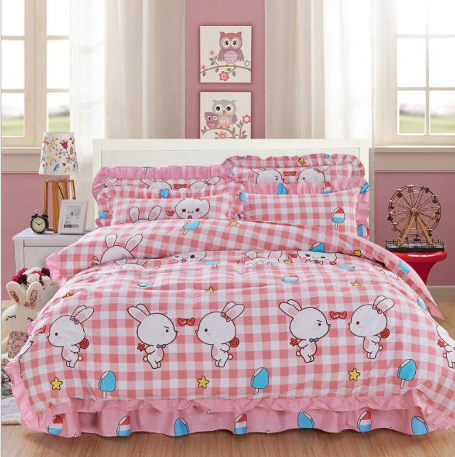 Cartoon Bunny Kitten Full Queen King Size 4pcs Bedding Sets Bedclothes Duvet Cover Pillowcase Sheet Bedroom Home Textiles In From