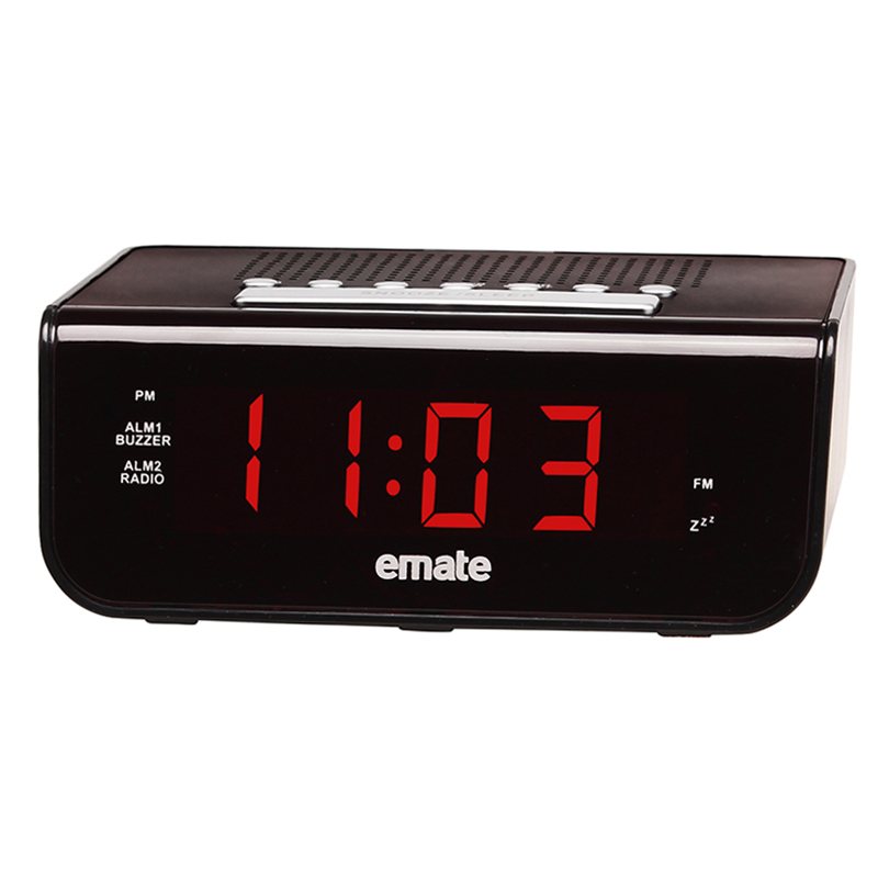 Multifunction Radio Clock Electronic LED Alarm Clock with Backlight Snooze Function