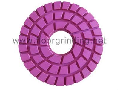 ФОТО NCCTEC 9'' 220mm marble polishing pad | thickness 10mm | hole diameter 45mm | grit 50-3000 | class A quality