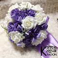 New 2016 Romantic Purple Bribe Bouquet of Flowers Wedding Bride Wedding Holding Flowers Wedding Favors