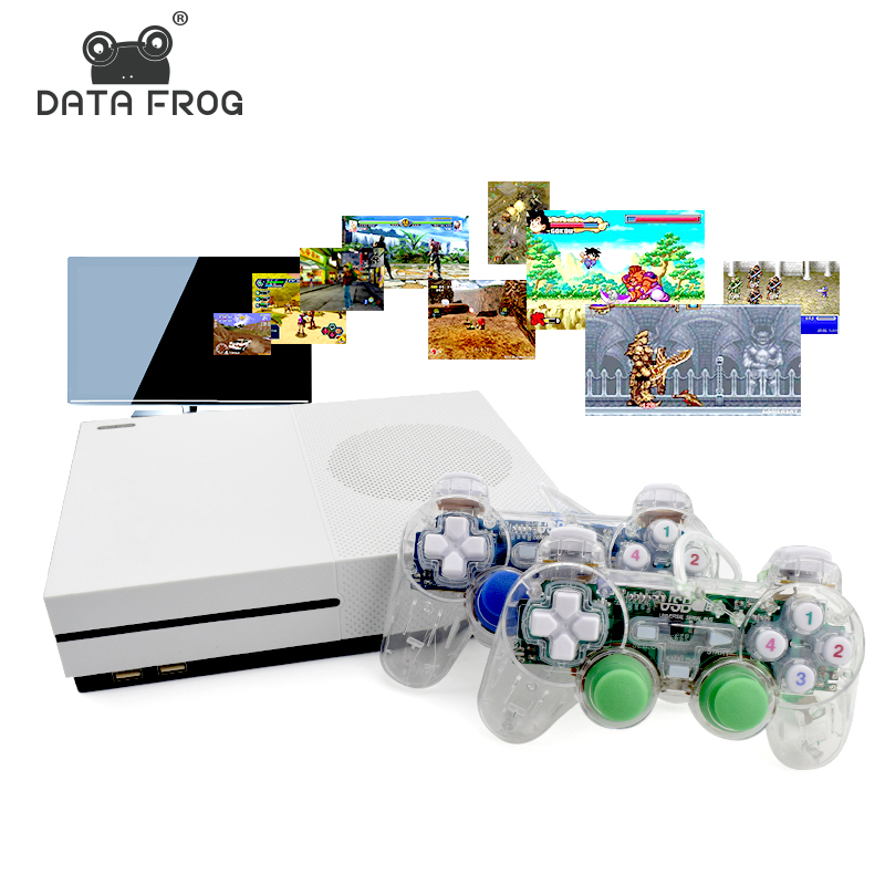 Daten Frosch HD TV Spielkonsolen 4 GB Videospiel-konsole unterstützung HDMI TV Out Eingebaute 600 Klassische Spiele Für GBA/SNES/SMD/NES Format