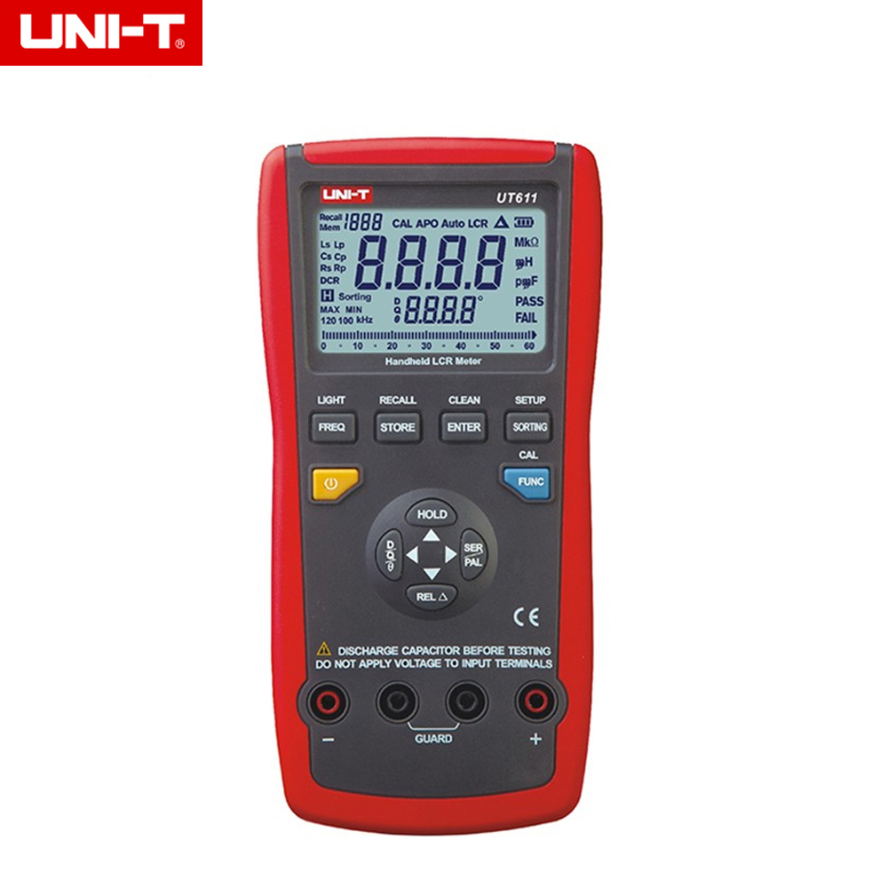 UNI-T UT611 Professional LCR Meters Inductance Capacitance Resistance Frequency Tester ut612 digital lcr meter with inductance capacitance resistance frequency tester