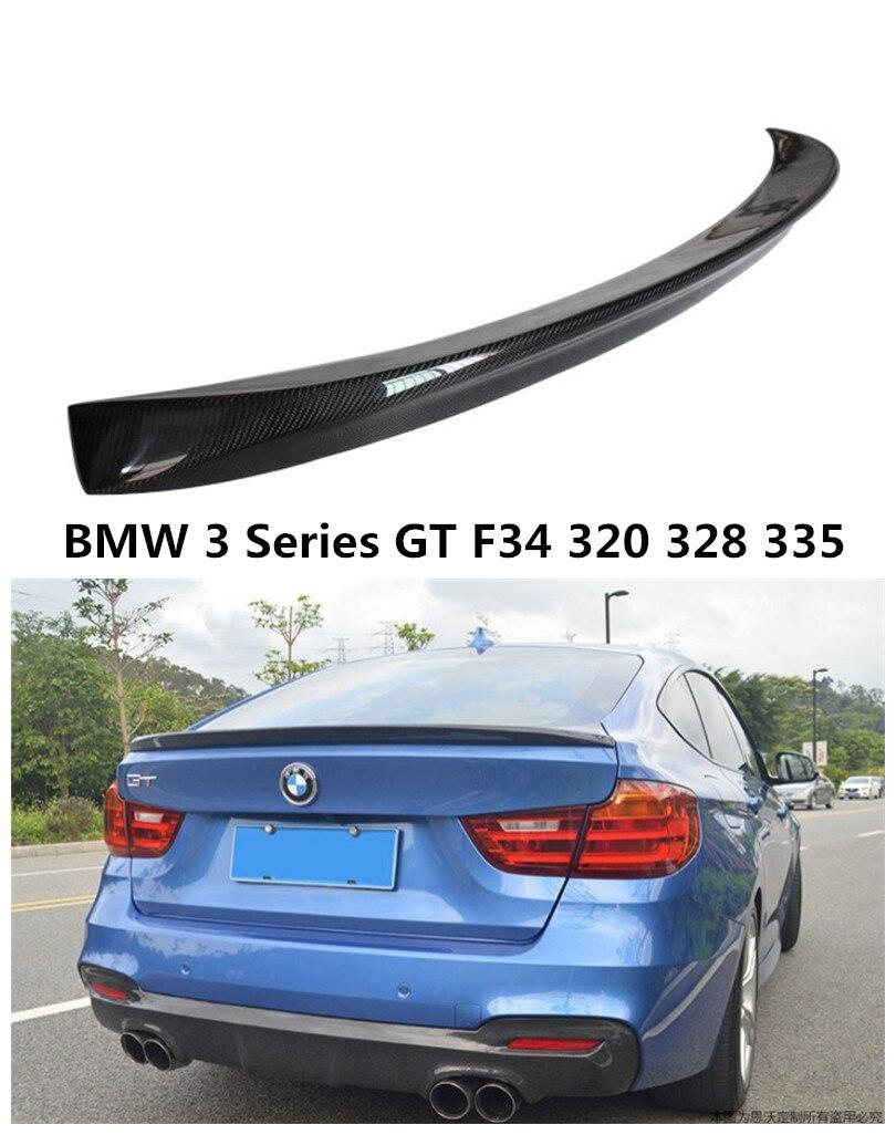 En Fiber De carbone Spoiler Pour BMW 3 Série GT F34 320 328 335 2014.2015.2016.2017 Voiture Arrière Spoilers Aile Auto Accessoires