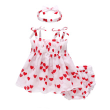 Baby Girls Summer Cute Clothing Set 2019 New Thin Clothes 12M-4T Printed Sling Dress Princess Party