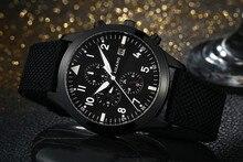 AILANG aydınlık erkekler spor otomatik saatler kendini rüzgar takvim kol saati çalışılabilir 3 gözler 6 kol Analog Relojes 3ATM NW7202