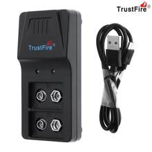 Trustfire 9VBC01 Intelligent Charger 2 Slots 9V Battery Charger with Micro USB Port for 9V Li-ion NI-MH NIMH Battery(China)