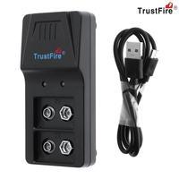 Trustfire 9VBC01 inteligentna ładowarka 2 gniazda 9V ładowarka z port micro usb do 9V Li ion NI MH baterii NIMH w Ładowarki od Elektronika użytkowa na