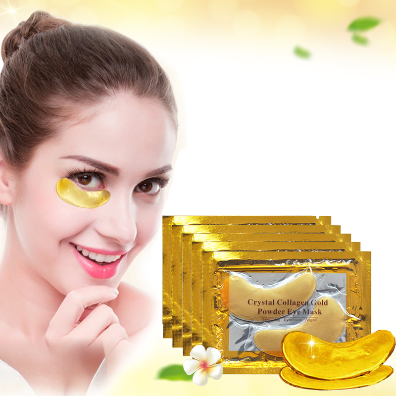 [20pcs] Natural Crystal Collagen Gold Powder Eye Mask Anti-Aging Eliminates Dark Circles Fine Lines Face Care Skin Care N035