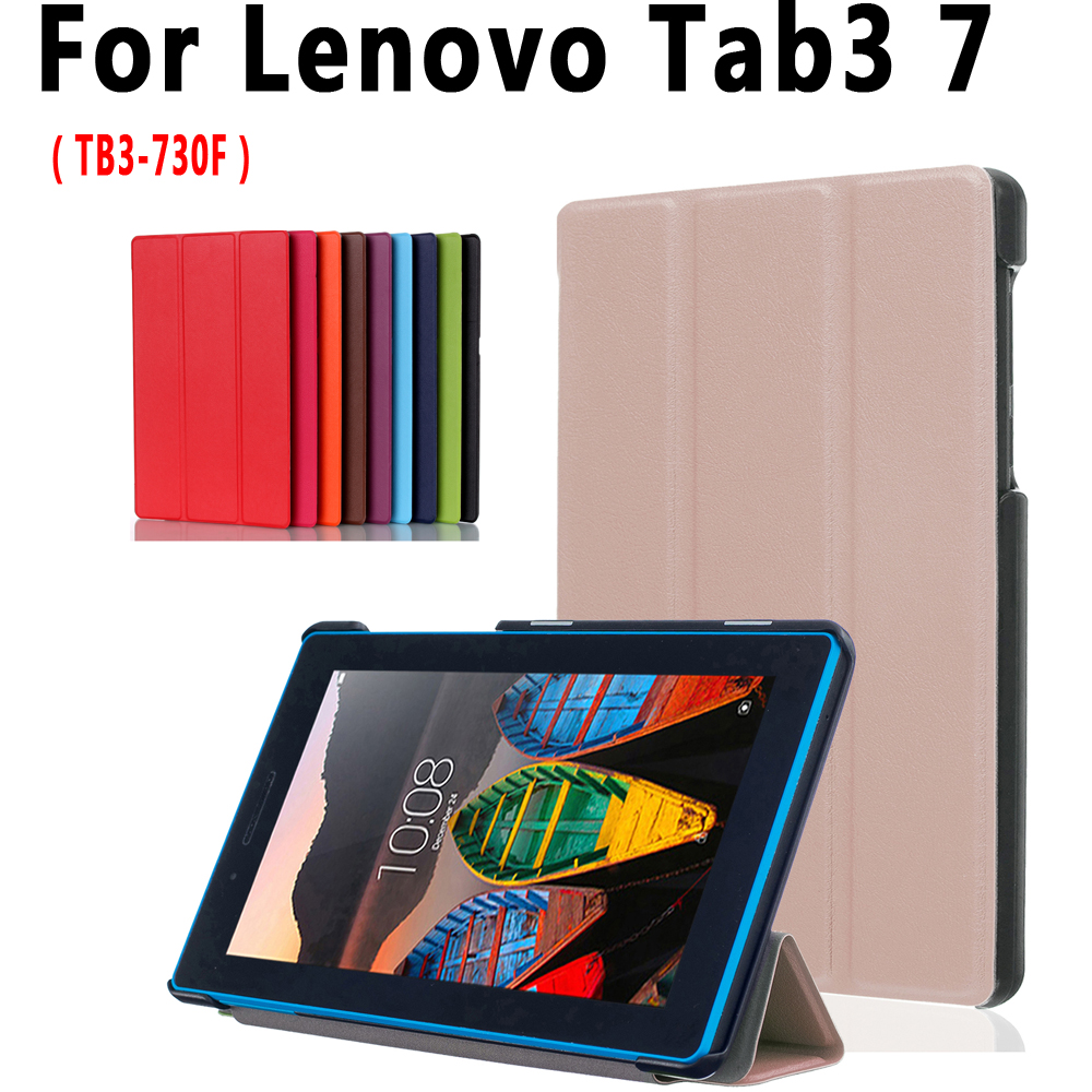 Slim Flip Case For Lenovo Tab3 7 TB3-730F 730F 730X 7.0 inch Cover Tablet Stand Pu Leather Case for Lenovo Tab3 7 TB3-730F Cover joyroom england series stand leather magnetic cover for iphone 7 4 7 inch brown