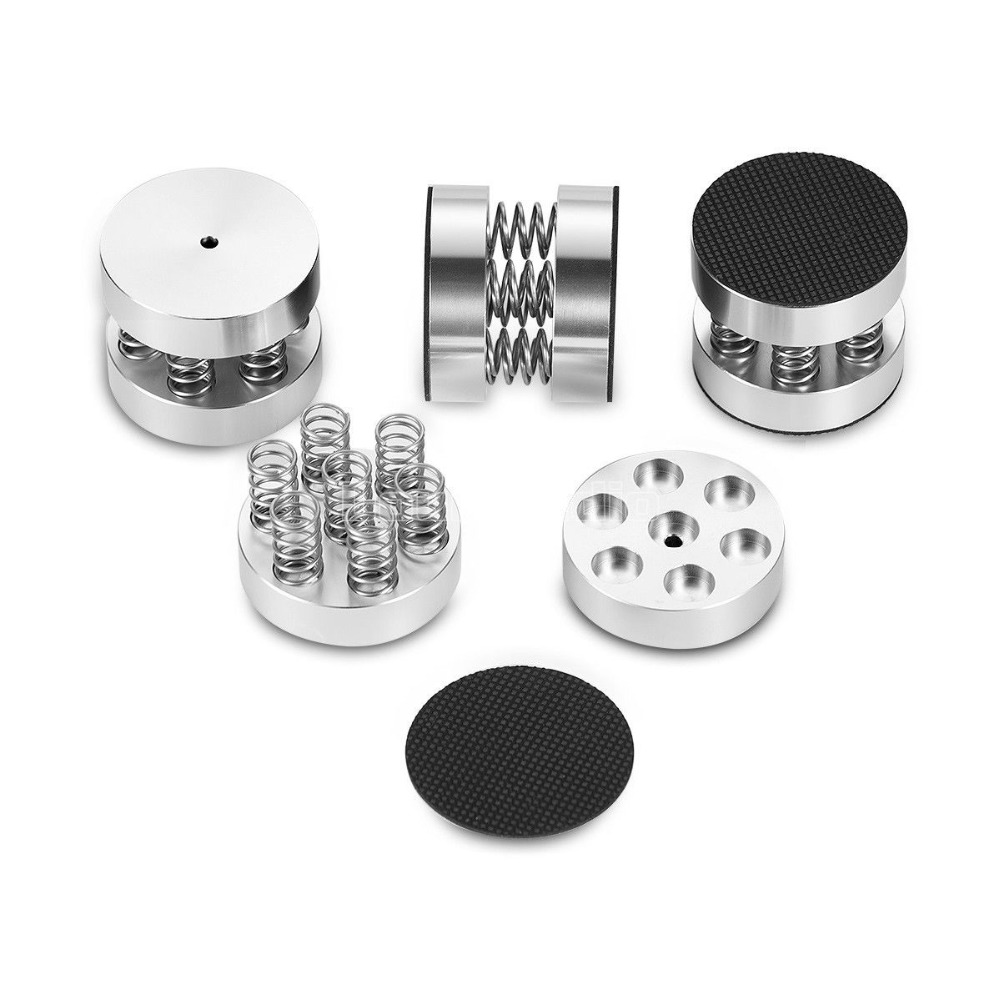 Douk Auido 4PCS Aluminum Spring Float Isolation Stand Speakers Spikes for HiFi CD Players Amplifier Accessories
