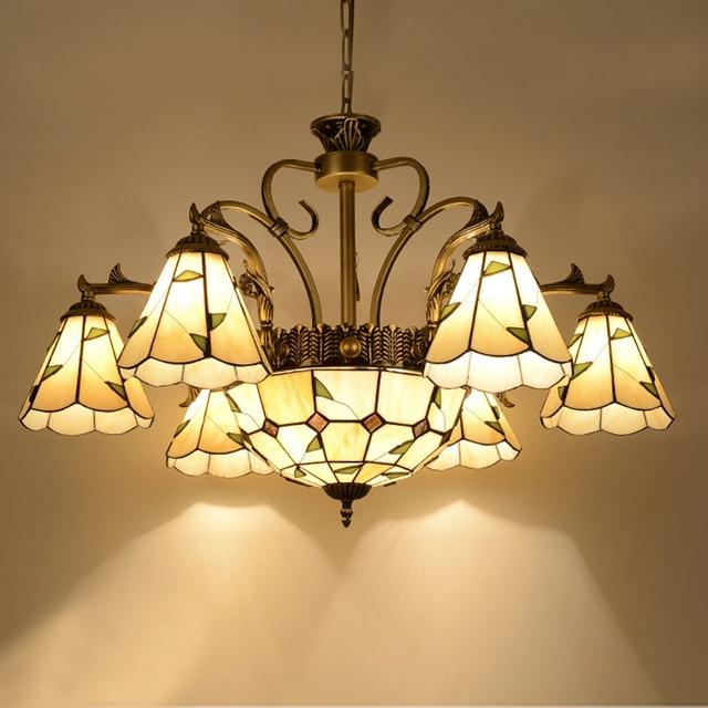 Past Style Chandeliers Mediterranean Color Indoor Chandelier Living Room Home Decor Hang Light Tiffany