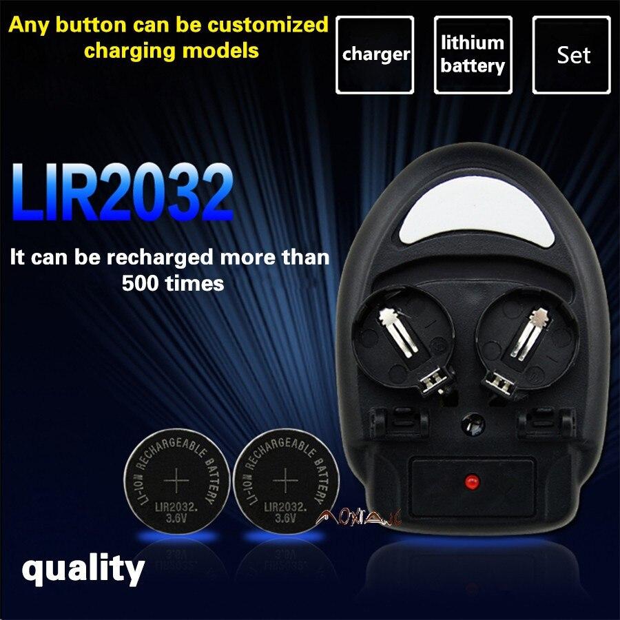Haute qualité!!! 1 PCS chargeur + 4PCSLIR2032, LIR2025 ML2032 ML2025 BOUTON CR2032 batterie chargeur UE plug bouton l'excellence