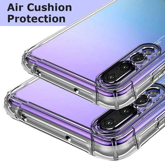 Claro TPU cojín de aire funda del teléfono para Huawei P20/P20 Pro/Lite P20/Nova 3e de protección protector de cubierta trasera transparente suave