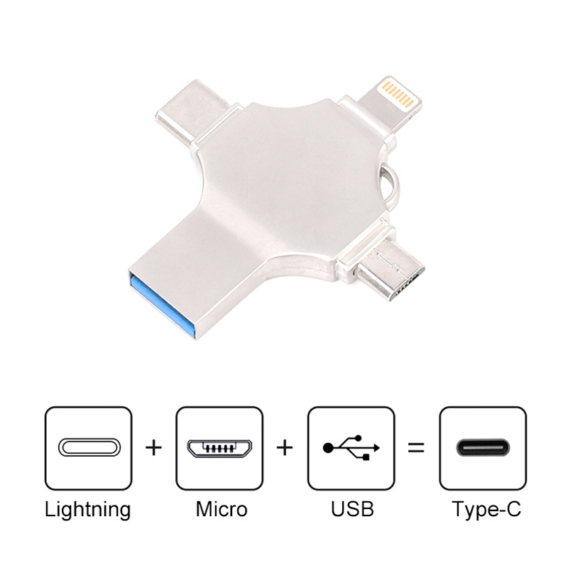 Pendrive 128 GB Usb Flash 8GB 16GB 32GB 64GB 128GB 256GB USB-C Type C Smartphone Micro USB otg Memory Stick for iPhone IOS Phone(China)