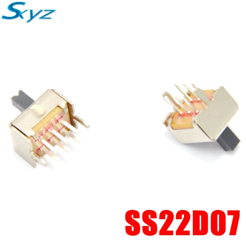 20 Pcs On/Off/On DPDT 2P2T 8 Pin Vertical DIP Slide Switch DIY Material Electrical Tools #DSC0039