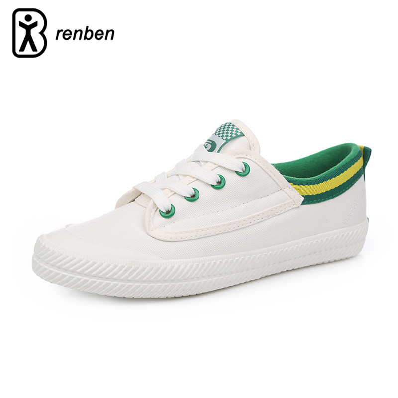 RenBen Flats Casual Shoes Women Fashion Canvas Lightweight Loafers Female Shoes Woman Stripe Breathable Summer Shoes