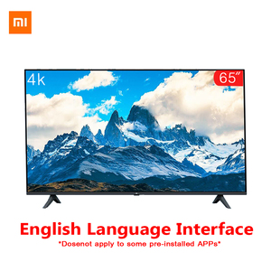 Original Xiaomi Tv 65 inches E65A Real 4K Borderless Full Screen TV Set 2GB+8GB Memory Anti-Static AI Voice Control Dolby Sound