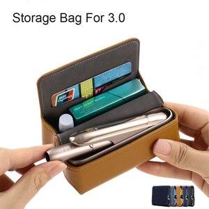 Image 1 - Funda de cuero tipo billetera con tapa a la moda para IQOS 3,0 bolsa soporte caja funda para IQOS 3 funda, soporte