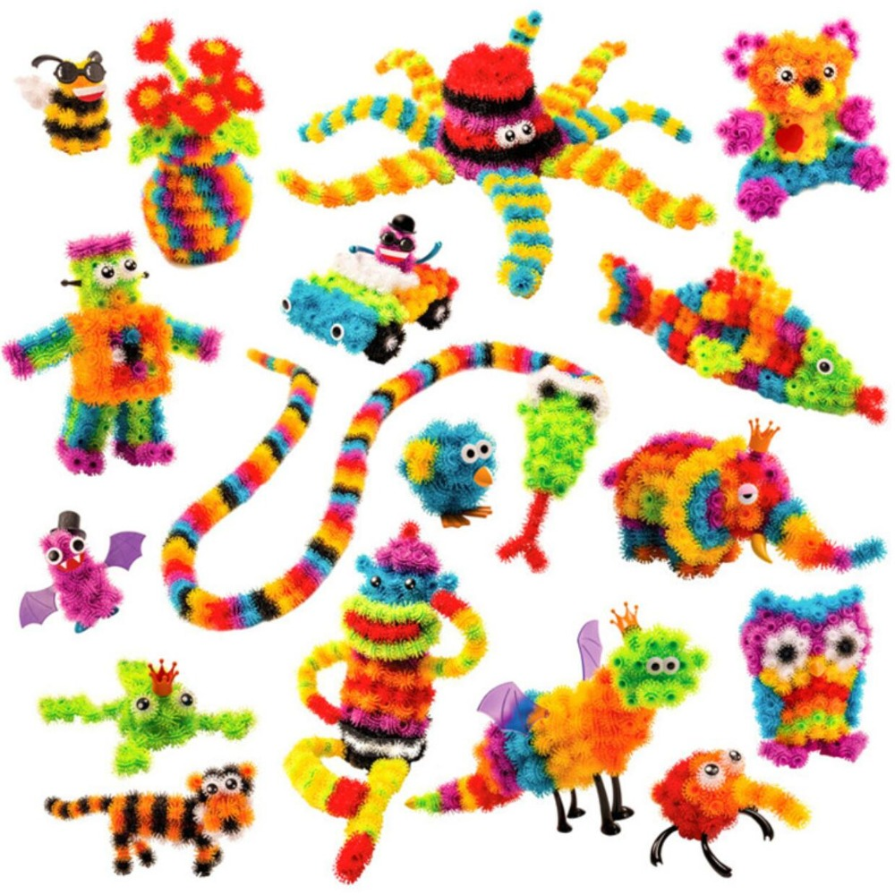 Kids' Magic Puffer Ball 2018 Animal Assembling Building Block Toy Set 400/1000 Pieces