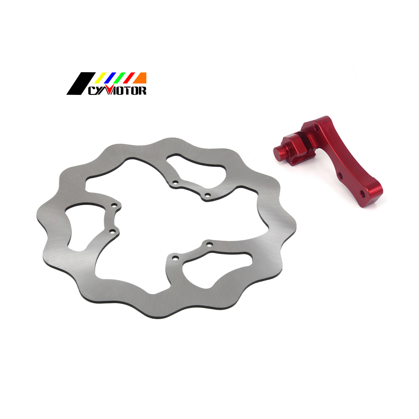 Motorcycle Steel Front Brake Disc And Adapter Bracket For HONDA CR 125 250 R E CR250F CRF250R CRF 250 450 X CRF 250 450 R new arrival motorcycle cnc pivot brake clutch levers for honda crf 250 450 r crf250x crf 450r 450x xr230 motard off road
