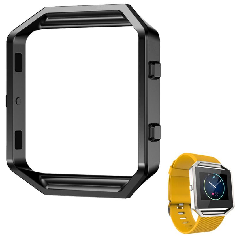 Superior Luxury Stainless Steel Watch Replace Metal Frame Watch Holder For Fitbit Blaze Smart Watch Apr12 superior nylon watch band wrist strap steel metal frame for fitbit blaze smart watch dec 12