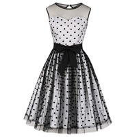 2019 Summer Women Sleeveless 1950s Rockabilly Cocktail Party Dress Retro Vintage Swing Dress 50s 60s Pin Up Dresses Vestidos