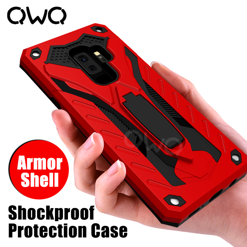pretty nice 806ff 019a1 Shockproof Protection Case For Samsung Galaxy S8 S9 Plus Note 8 9 Full  Cover Armor Shell For Samsung S8 S7 Edge Protective Case