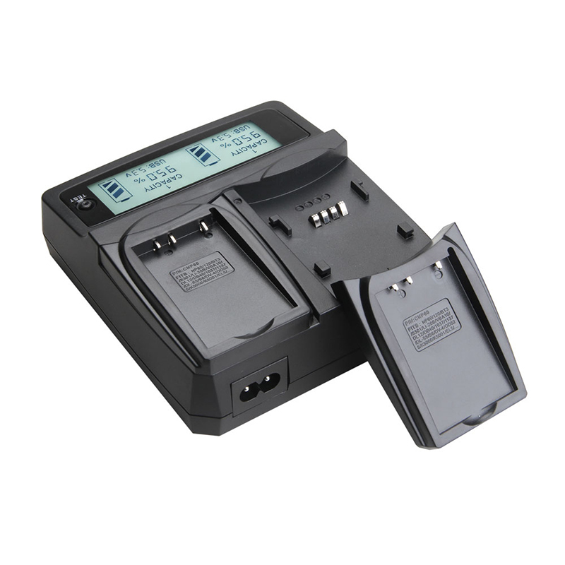 Udoli AHDBT 301 302 201 Camera Battery Car Dual Charger LCD Display Charging for Gopro Hero 3 3+ 3 Plus AA/AAA battery