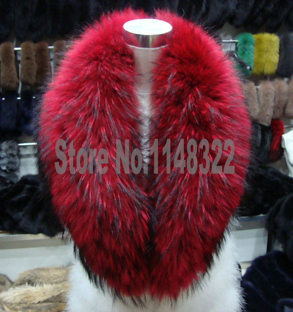 real raccoon fur collar Picture - More Detailed Picture about ...