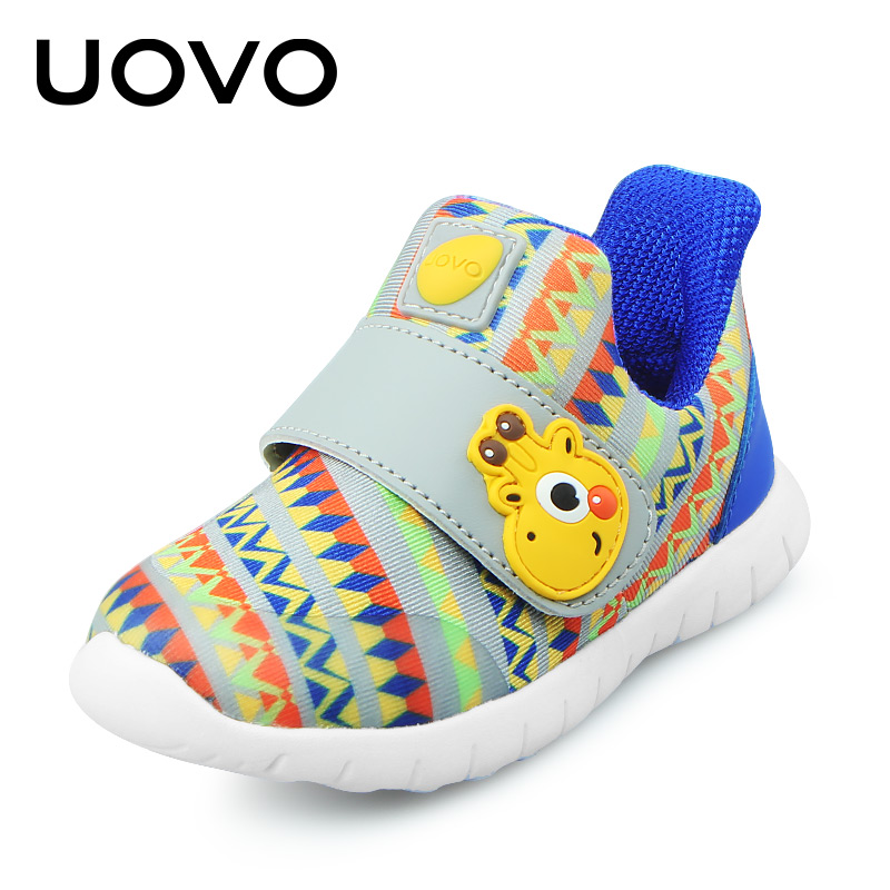 UOVO 2020 Baby Shoes Toddler Boys And Girls Casual Shoes Spring Breathable Little Kids Shoes Hook-And-Loop Size 22#-30#
