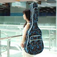 High Quality 600D 41 Guitar Bag Water resistant Oxford Cloth Camouflage Blue Ajustable Strap Gig Bag Guitar Carrying Case