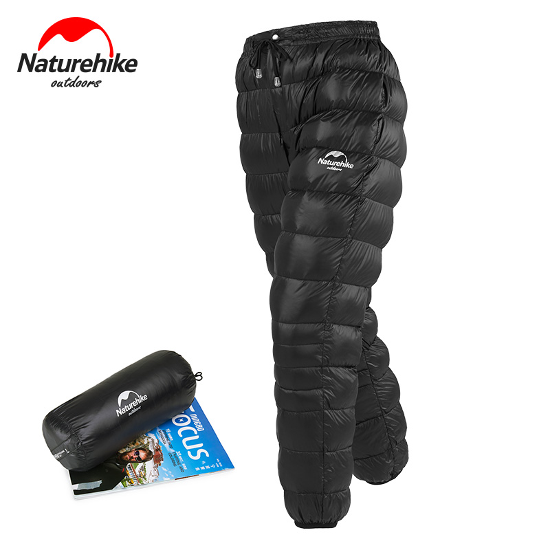 Naturehike Unisexe En Bas du Pantalon En Plein Air Escalade Imperméable Pantalons Chauds Camping Duvet d'oie Pantalon NH18K210-K