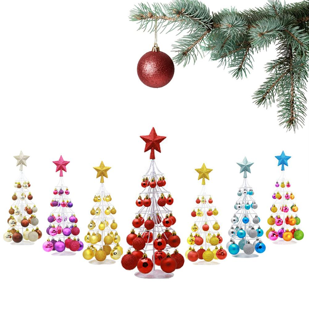 Mini Christmas Ball Tower Tree Top Star Decoration Party Supplies