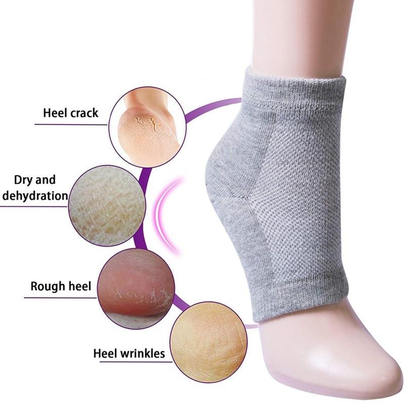 Heel Socks Nourish The Skin of the Feet Anti-Drying Anti-Crack Moisturizing Gel Socks