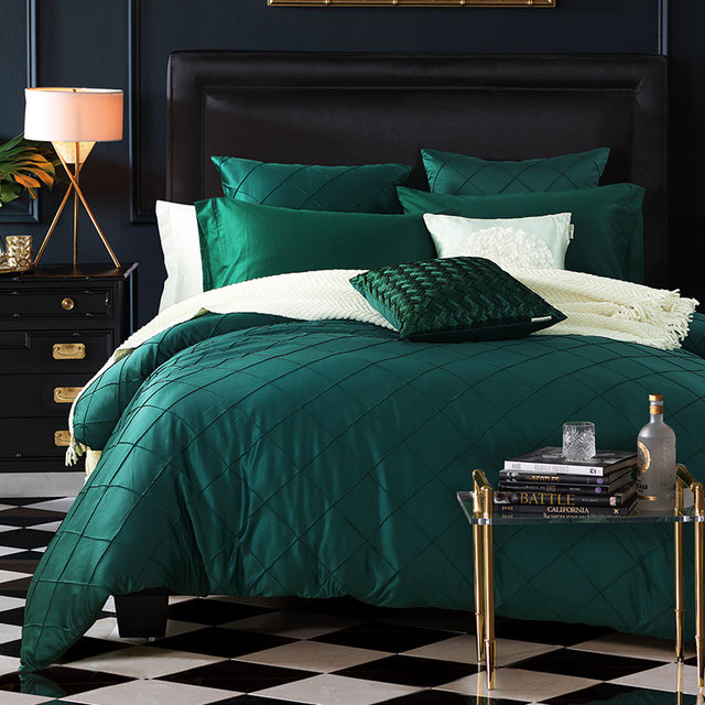 Great BeddingOutlet Dark Green Bedding Favorite Duvet Cover Beautiful Bedspreads  Diamond Lattice Sheets 4pcs/6pcs/