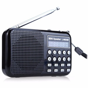 Image 1 - Leory Led Digitale Am/Fm Radio Voice Recorder Speaker Draagbare Oplaadbare Usb Tf Met Mp3 Speler Led Zaklamp