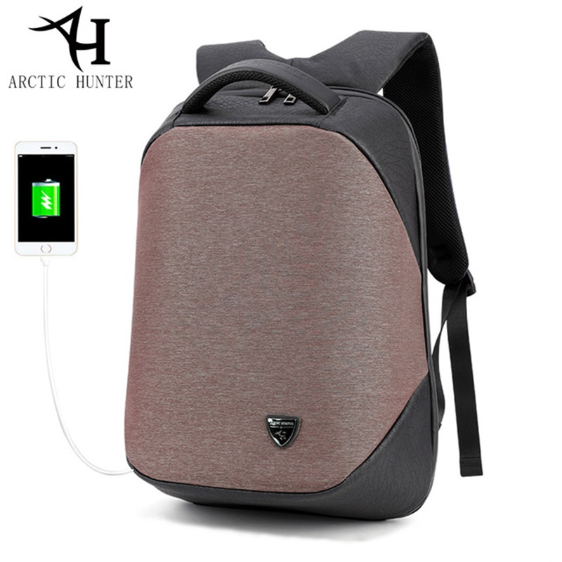 ARCTIC HUNTER School backpack laptop backpacks men Waterproof mochila Casual Fashion Business Male Bag Travel Back Pack Bag Men arctic hunter design backpacks men 15 6inch laptop anti theft backpack waterproof bag casual business travel school back pack