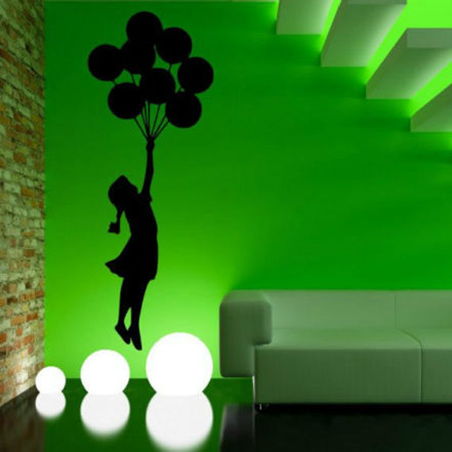 popular banksy decal wall buy cheap banksy decal wall lots from free shipping banksy wall sticker balloon girl style decal free shipping height 55cm 160cm