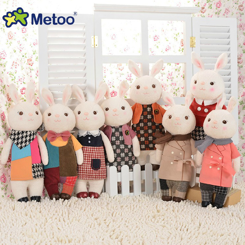 Metoo Doll Cute Cartoon Girls Baby Soft Plush Rabbit Bunny Stuffed Toys Kawaii Animals For Kid Children Christmas Birthday Gifts kawaii rabbit metoo doll cute cartoon girls baby plush stuffed toys soft lovely animals for kid children christmas birthday gift