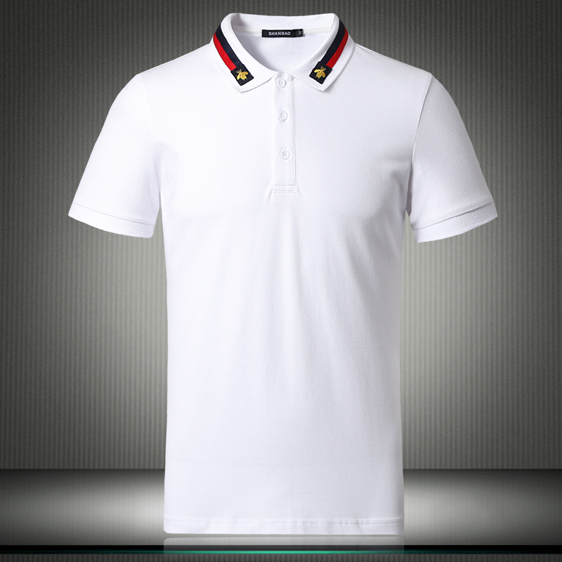 White Black 2019 New England Designer US   Polo   Shirts For Men Short Sleeve Solid Breathable Shirt Plus Size 4XL 5XL 81855