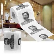 Новое поступление, 1 шт., хильари Клинтон, смешная, с открытым ртом, забавная, хильари, Диана Клинтон, юморная туалетная бумага, смешной рулон, шалость, Подарочная ткань