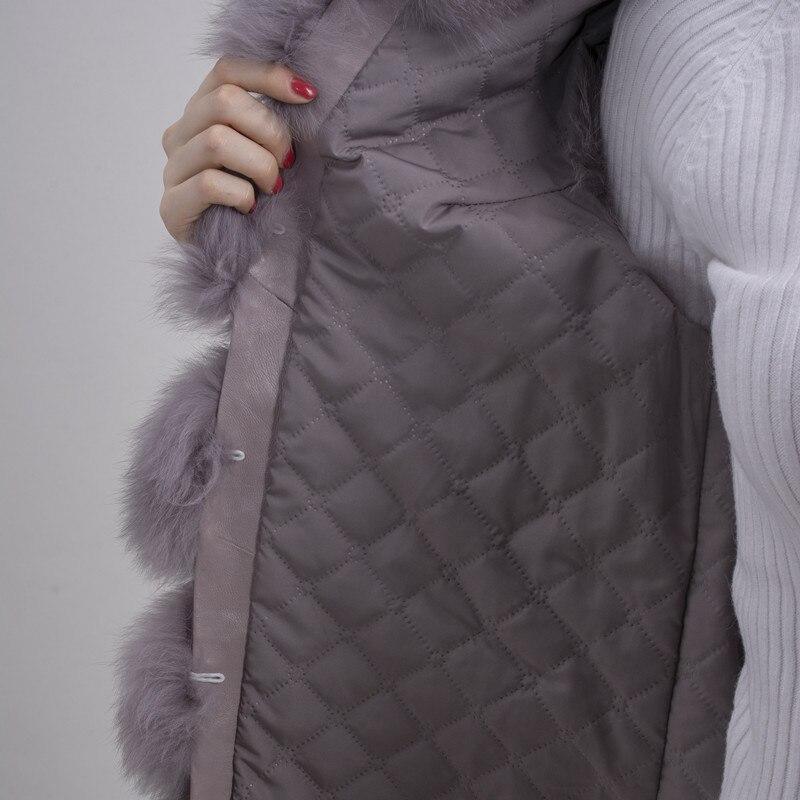 QIUCHEN PJ8049 2018 Hot Sale nyata Bulu Rubah Rompi Otentik Fashion - Pakaian Wanita - Foto 6