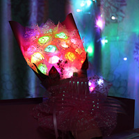 LED Rose Romantic Valentine's Day Gifts Colorful Rose Bouquet Bouquet Christmas Gift Bouquet Gift Box